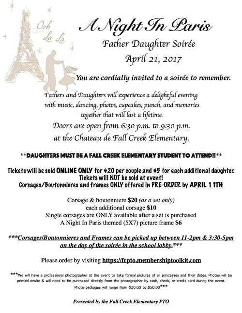 Father Daughter Dance Info