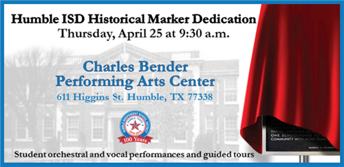 Texas Historical Marker ceremony notice