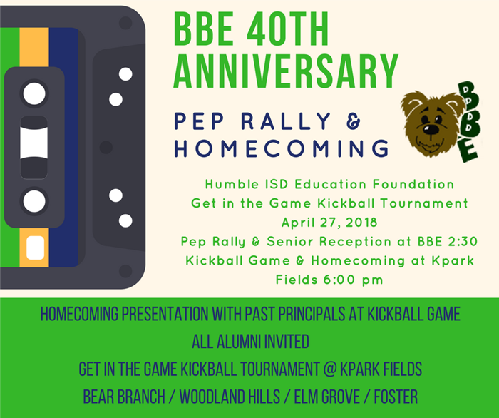 BBE 40th Anniversary Homecoming