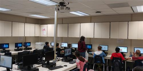 Codeing in the computer lab