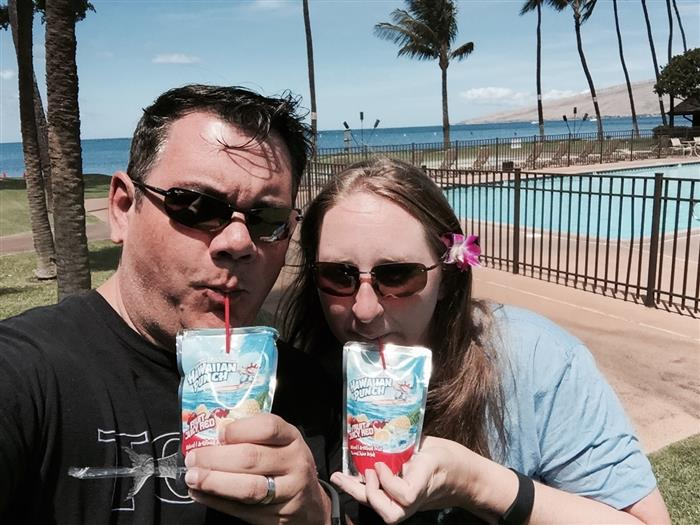 Drinking Hawaiian Punch in Hawaii