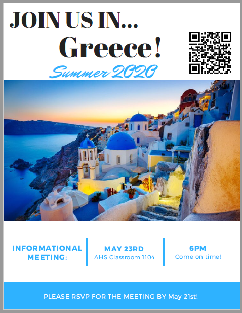Greece!  Here we come!