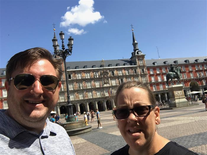 Plaza Mayor of Madrid, Spain. My wife and I had the pleasure of trekking through the country over the summer. I have a lot of