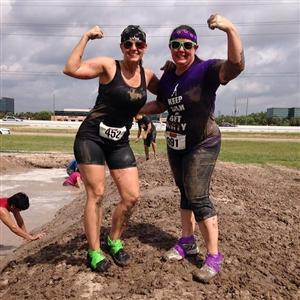 That's me on the left at my 8th mud run!
