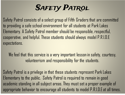 Collegeessay about safety patrol