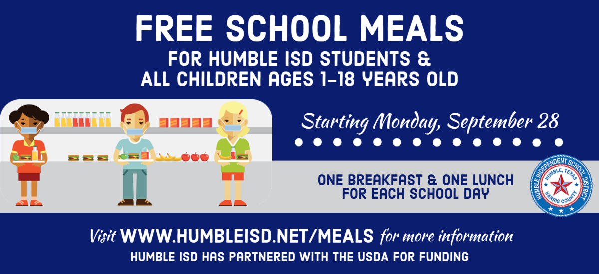Free Meals for Humble ISD students through Dec 18