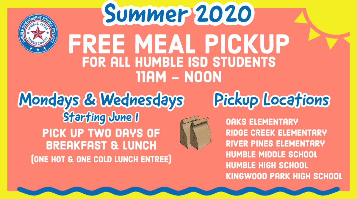 Summer 2020 Free Meal Pickup