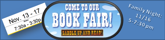 Book Fair November 13-17 and Family Night 11/16 5-7:30
