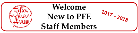 Welcome new to PFE Staff