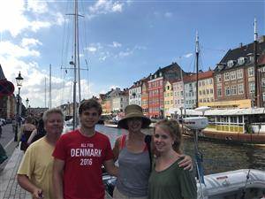 Denmark with the Fam