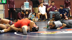 2020 District wrestling at Summer Creek High School
