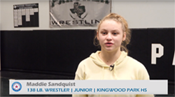 Maddie Sandquist Leads Kingwood Park Wrestling into the Regional Tournament