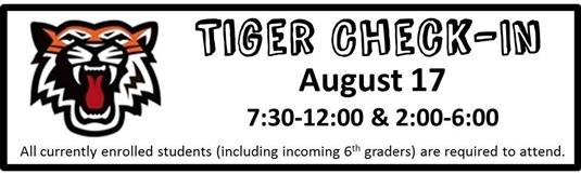 Tiger Check-in - August 17
