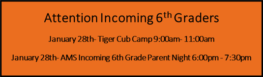 Incoming 6th Graders - Cub Camp 1/28