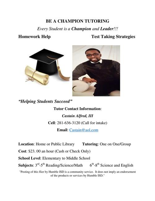 Be a Champion Tutoring