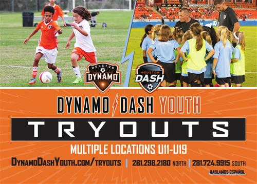 Dynamo Dash Soccer Try Outs May 20 2019