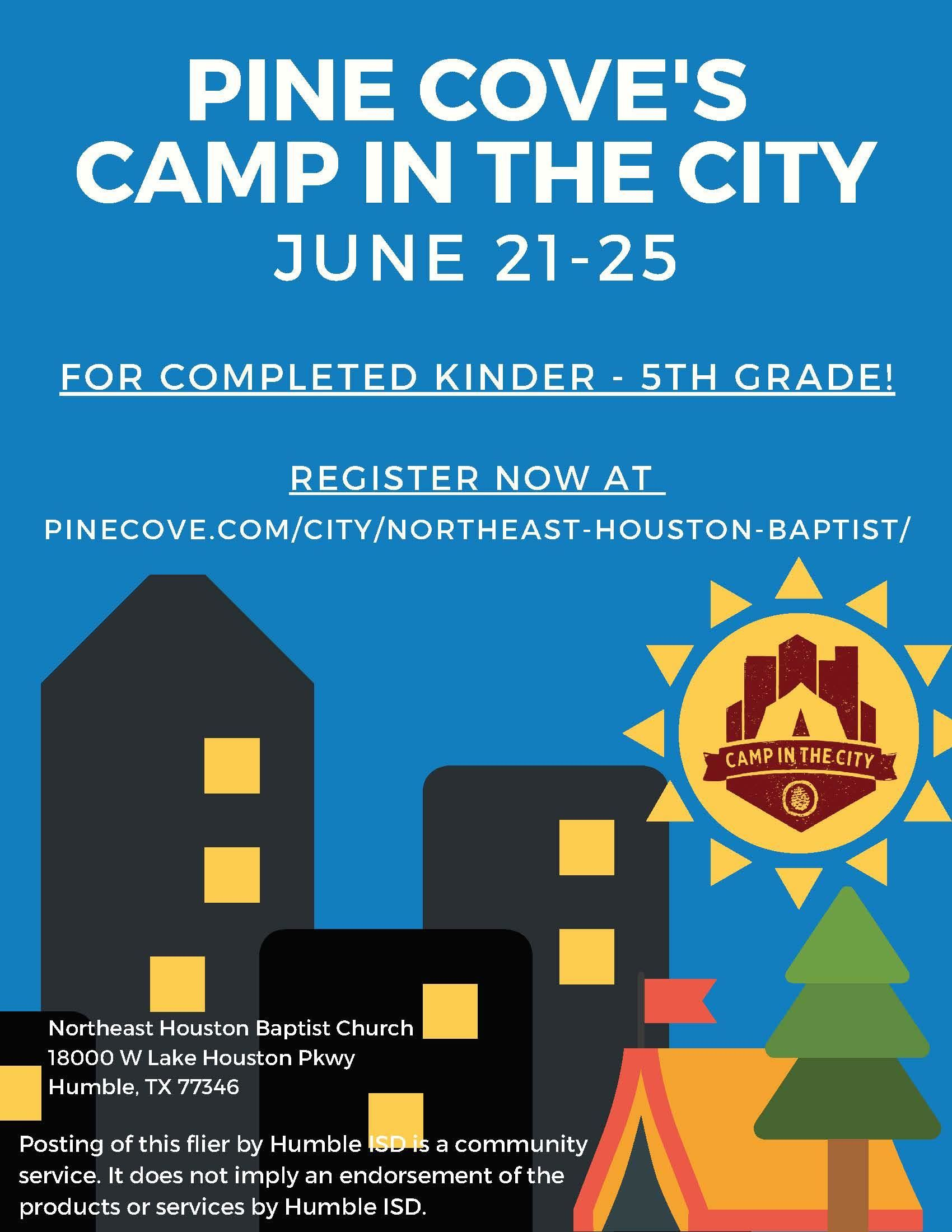 Pine Cove's Camp in the city