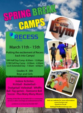 The Gym Spring Break Camp March 22