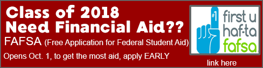 Link to financial aid for college application