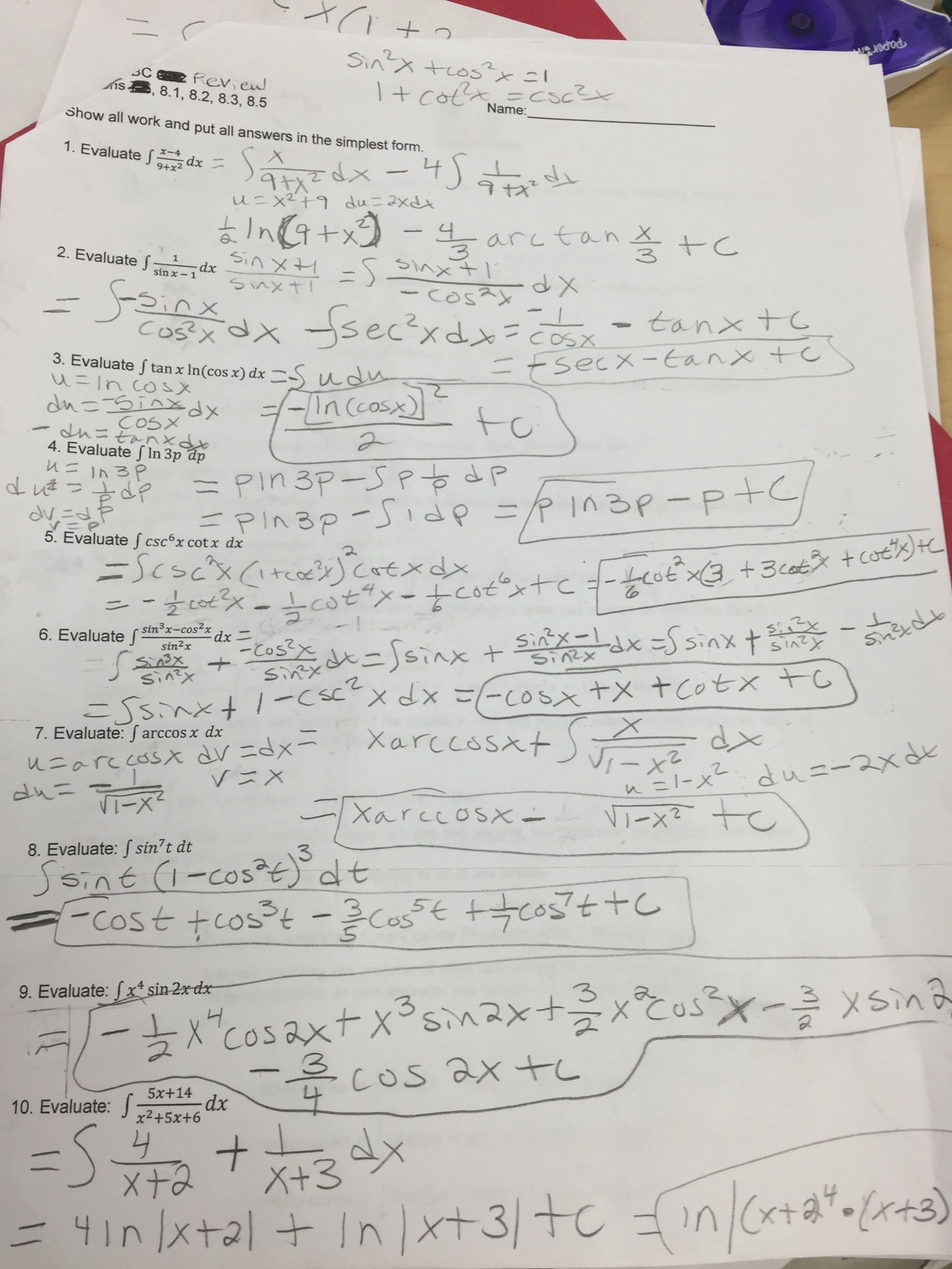 Martin melissa ap calculus bc chapter 8 mixed practice key robcynllc Choice Image