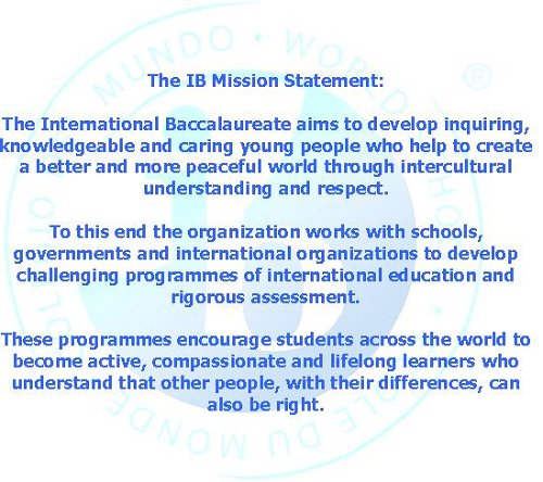 IB Misson Statement