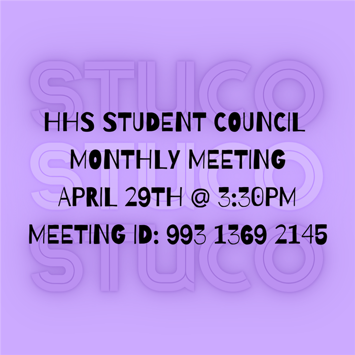 Student Council Monthly Meeting