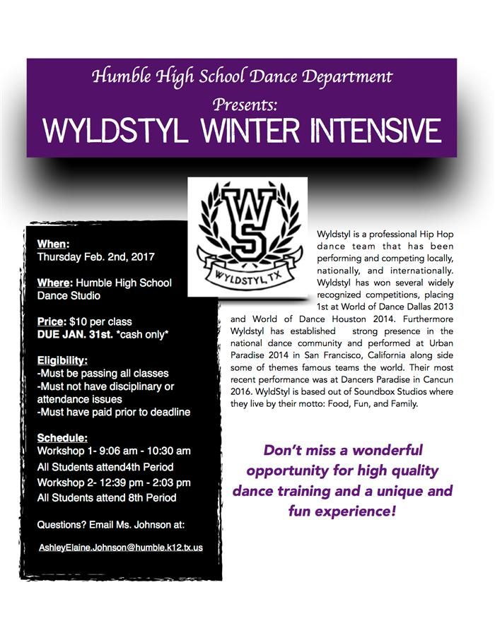 WyldStyl Winter Intensive