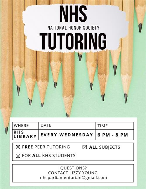NHS Tutoring Poster