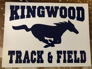 Track & Field Yard Sign