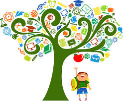Resource tree with student grabbing an apple