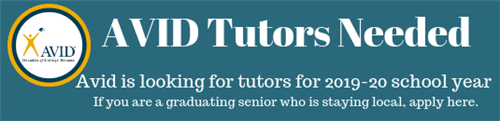 AVID Tutors Needed