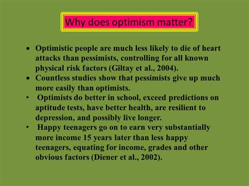 Why Optimism?