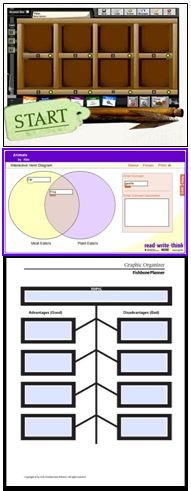 Graphic Organizer Screenshots