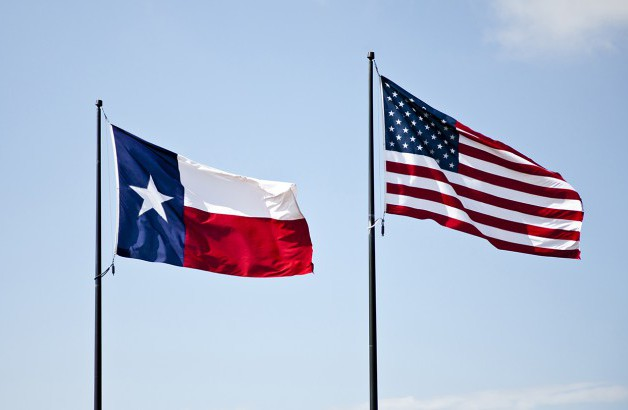 US and TX Flags
