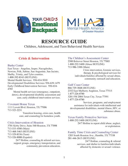 Hensley Criscilla Family Resource Guide