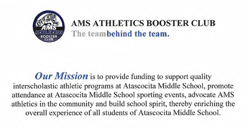 AMS Booster Club Mission