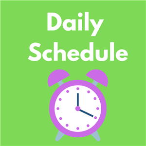 image of daily schedule