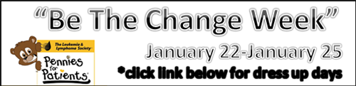 Be The Change Week January 22