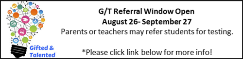 G/T Referral Window Open