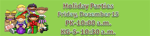 Holiday Parties Friday December 15