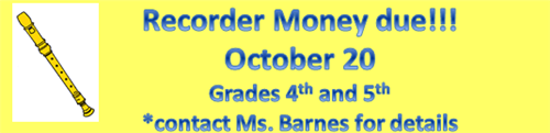 Recorder Money due October 20