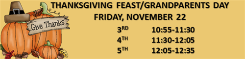 Thanksgiving Day Feast 3-5