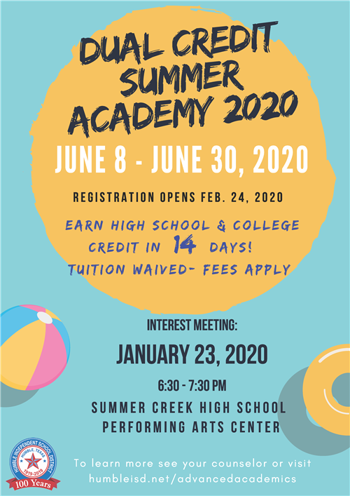 Dual Credit Summer Academy