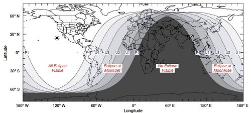 Where the Eclipse is Visible