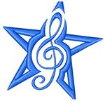 treble clef star