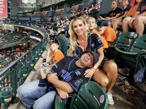Astros Game with my family