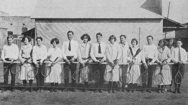 Humble High School Tennis lub 1924