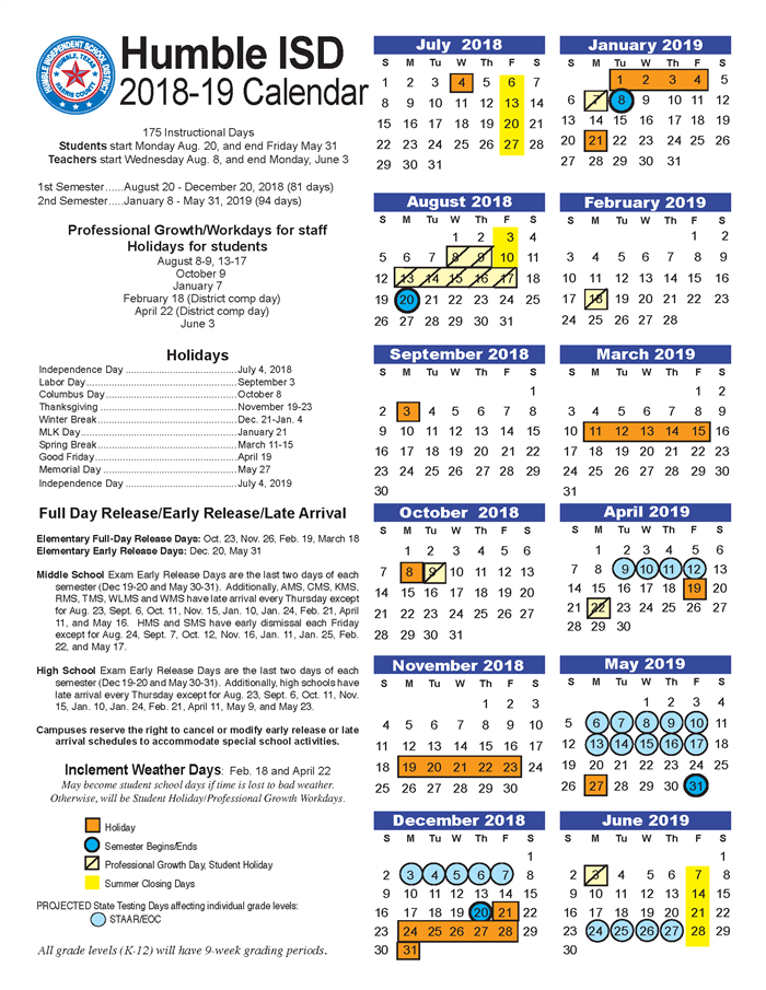Houston County School Calendar.Calendars Dates District Calendars Dates