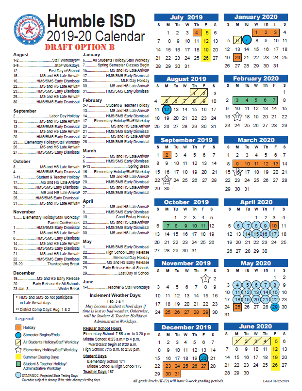 Hisd School Calendar 2020 Calendars / Dates / 2019 2020 Calendar FAQs