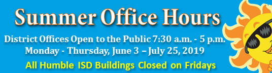 District Summer Hours 2019